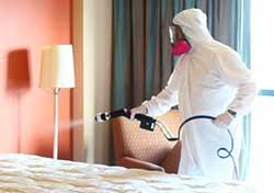 electrostatic spraying for odors